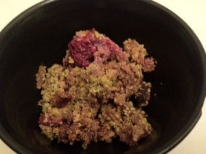 Fruit crumble
